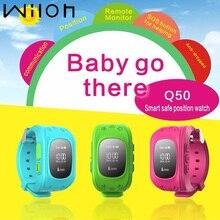 GPS Tracker Uhr Für Kinder SOS Notfall Anti Verloren Armband Armband Q50 smart watch tragbare Geräte Oled GERÖLL kinder Uhr