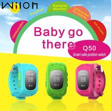GPS zegarek z GPS dla dzieci alarmowy SOS bransoletka zabezpieczająca przed zagubieniem dziecka opaska na nadgarstek Q50 smart watch urządzenia przenośne OLED ekran zegarek dla dzieci dla dzieci tanie tanio Passometer Uśpienia tracker Wiadomość przypomnienie Przypomnienie połączeń Odpowiedź połączeń Wybierania połączeń