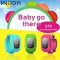 Gps Tracker Relógio Para Crianças Sos Emergência Anti Perdido Pulseira Q50 Relógio Inteligente Dispositivos Wearable Oled Scree Crianças Relógio