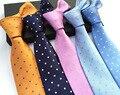 CityRaider Marca Laços Dos Homens 2016 de Moda de Nova Dot Impresso Seda pescoço Laços Para Homens Gravatas de Casamento Feitas À Mão Laços 8 cm 20 Cores LD008
