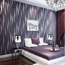 Modern Fashionable 3D Stripe Wallpaper Bedroom Living Room Home Adornment Wall Paper Roll