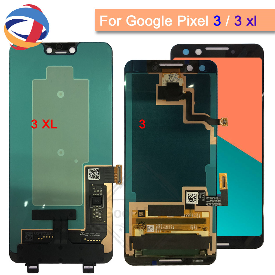 New For Google Pixel 3XL LCD Display Touch Screen Digitizer Assembly Google Pixel 3 2 LCD Screen Google Pixel 2 3 XL Replacement