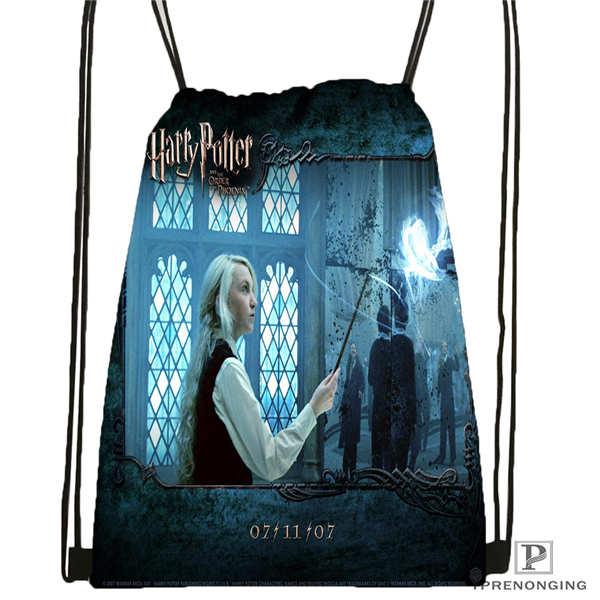 Custom Harry_potter_artwork_  Drawstring Backpack Bag Cute Daypack Kids Satchel (Black Back) 31x40cm#2018611-24