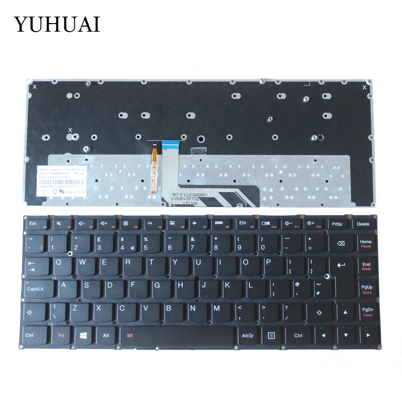 NEW for Lenovo ThinkPad Yoga 4 PRO Yoga 900 backlit UK  Laptop Keyboard new us laptop keyboard with backlit for lenovo yoga 14 thinkpad s3 series p n 00wh763 47m004d sn20f98414 cb 84us mp 14a83usj442