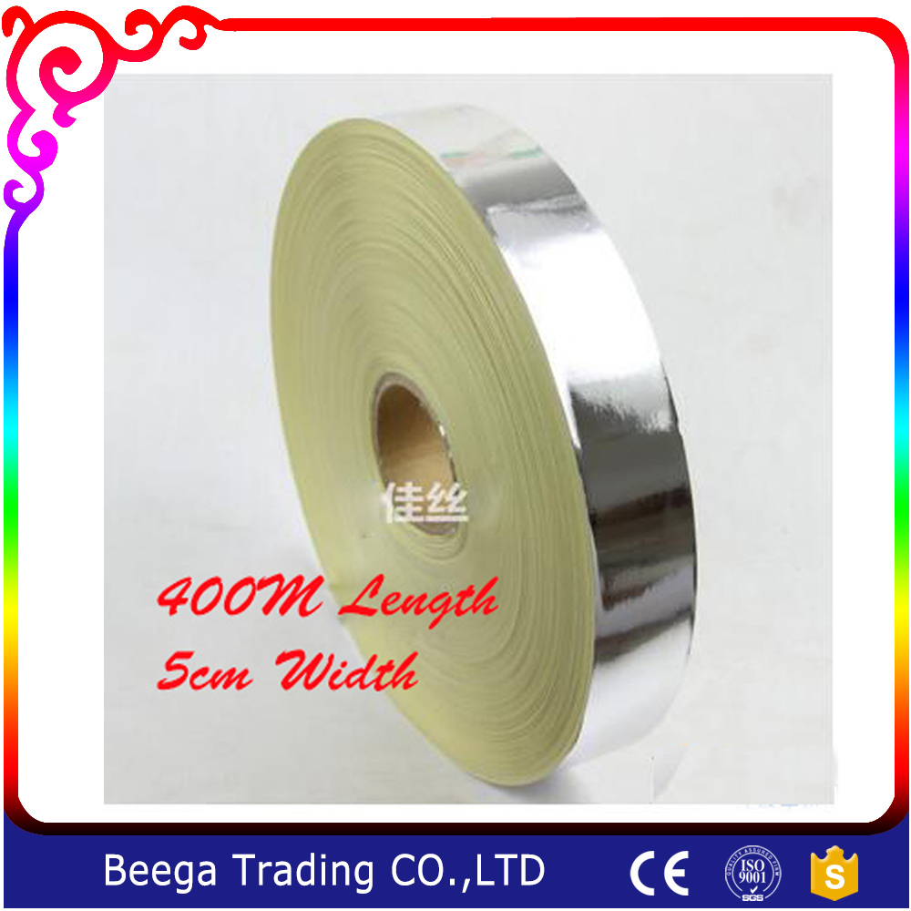 5cm Width x 400m Length Big Roll for 100 Pieces Screen Frame Aluminium Foil Bag Sealing Single Sided Aluminum Foil Tape Adhesive waterproof seam sealing tape roll satellite self amalgamating rubber sealing tape sealing cable repair lead