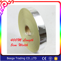 5cm Width x 400m Length Big Roll for 100 Pieces Screen Frame Aluminium Foil Bag Sealing Single Sided Aluminum Foil Tape Adhesive