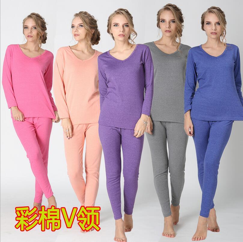new arrival women ufacturers wholesale Cotton V collar comfortable umderwear long Johns super large winter plus size XL -6XL