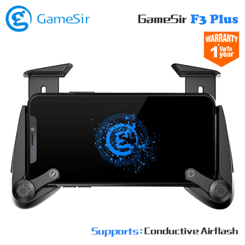 Gamesir F3 Plus Gamepad Conductive Pubg Mobile Gamepad AirFlash Grip Support AndroidiOS Cellphones for Fortnit PUGB Controller reflection