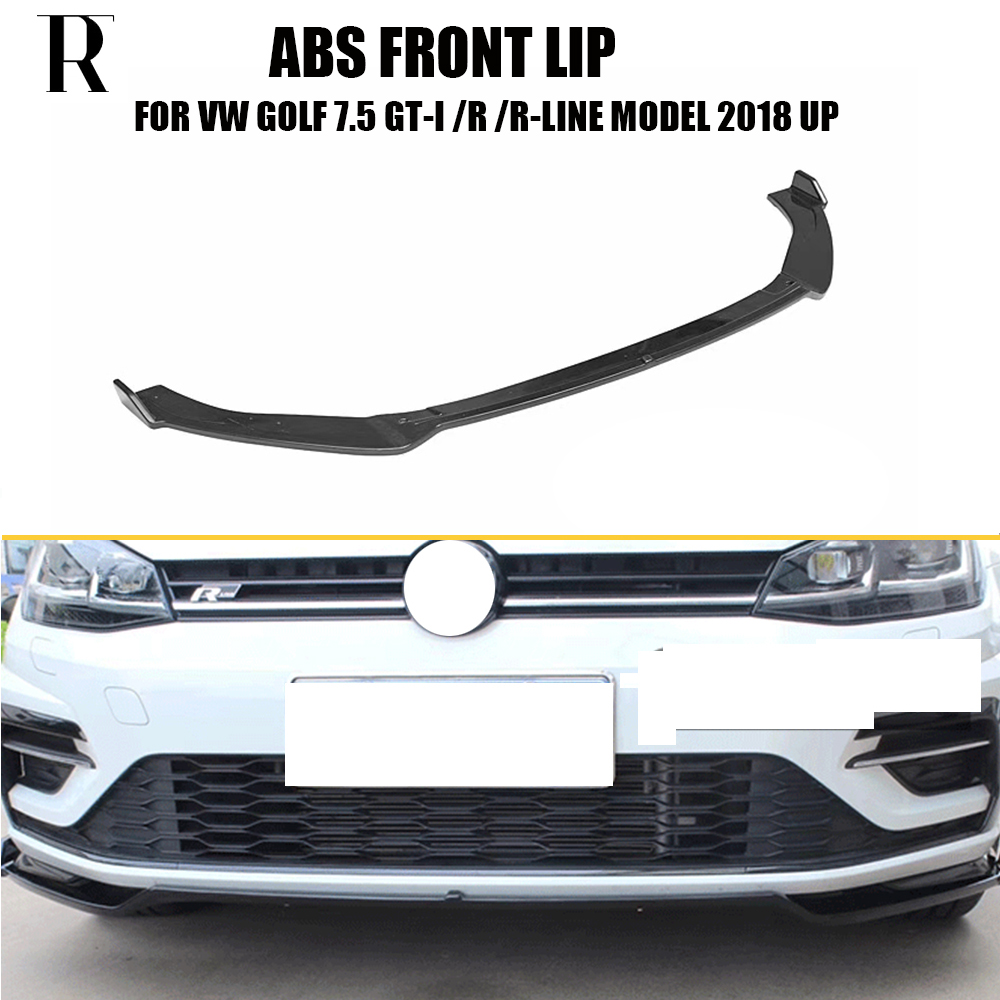 MK7.5 ABS Front Bumper Lip Chin Spoiler for Volkswagon Golf 7.5 GT I & R & R line Bumper 2018+ ( not fit MK7 & Standard 7.5 )