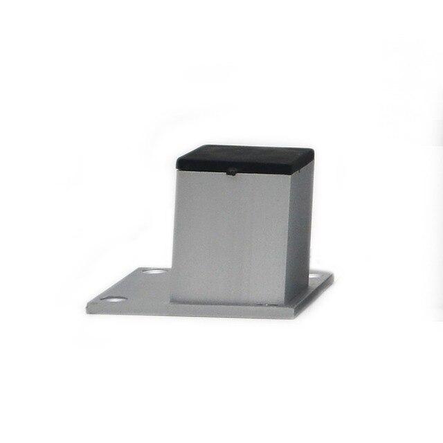 """4 יחידות 5 ס""""מ רגליים ארון אלומיניום שולחן ריהוט מתכת מרובעות רגליים בסיס מעמד עם ברגים"""