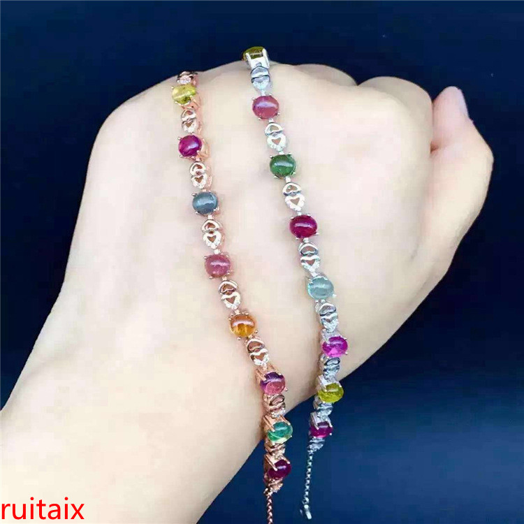 KJJEAXCMY fine jewelry S925 inlaid natural tourmaline 8 pieces of gem womens bracelet inlaid to order wholesale.KJJEAXCMY fine jewelry S925 inlaid natural tourmaline 8 pieces of gem womens bracelet inlaid to order wholesale.