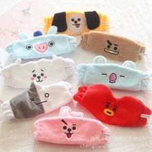 8pcs/lot BTS BT21 Cute Hair Band gym Wash Makeup Cleansing plush Headband fans plush Accessories(China)