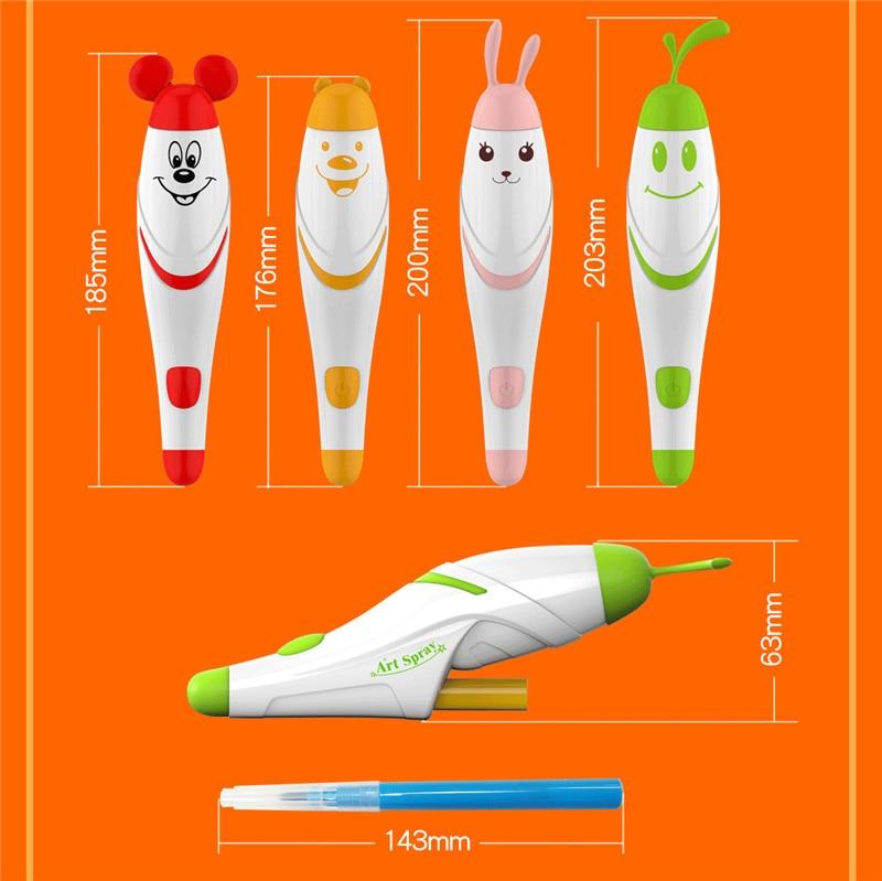 Set de Juguetes de Dibujo Magic Electric Spray Paint Pen Airbrush Pen - Educación y entrenamiento - foto 2