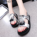Ms. Noki 2017 New Fringe Casual Beachshoes Non-slip Platform Wedges Women Sandale High Heel Summer Beach Shoes Sandals