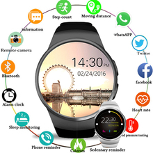 NEW 2019 Bluetooth Smart Watch KW18 Men Women Support Heart Rate Monitor SIM LET 3G TF Card Smartwatch for Android IOS PK QW09 696 hot sale x100 smart watch android 5 1 os smartwatch mtk6580 3g sim gps watchs pk q1 pro iwo kw18 relogio inteligente for ios