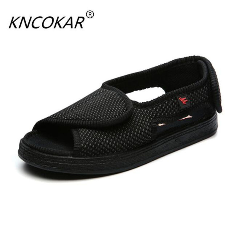 100% Quality Kncokar 2018 Hot Sales Mens Shoes Are Cozy Adjustable And Wide Cotton Cloth Shoes Suitable For Foot Swollen Feet And Fat Feet Shoes