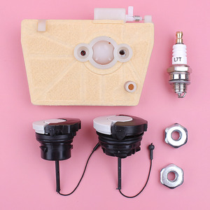 Image 1 - Filtro de aire, tapa de aceite de combustible, Kit de bujías de tuerca de barra para Stihl 038 MS380 MS381 MS 380 381, pieza de repuesto de motosierra