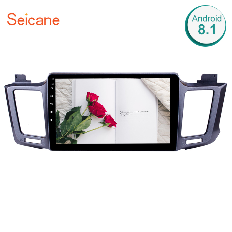 Seicane GPS Car Radio Multimedia Player For 2013 2014 2016 Toyota RAV4 10.1 2Din Android 8.1 Head Unit Support Backup Camera