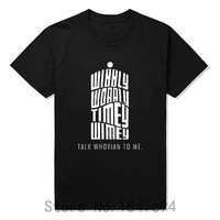 Funny Doctor Who DR WHO Daleks Exterminate To Victory Sitcoms T Shirts Summer Slim Fit Casual