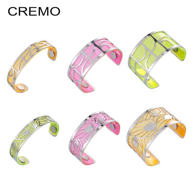 Cremo Volute Bracelets & Bangles Cuff Femme Summer Charm Vitality Statemenet Stainless Steel Bangles Interchangeable Pulseiras