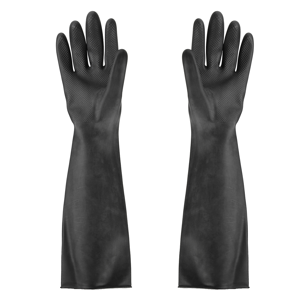 60cm Safety Gloves NEW Elbow-Long Industry Anti Acid Alkali Chemical Resistant Rubber Work Gloves Safety Glove Black 23.6inch
