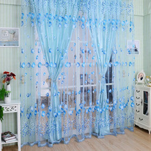 hot deal buy european and american style curtains for living room tulip window screening solid door curtains drape panel sheer tulle
