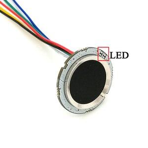 Image 3 - R502 Rosso Bule LED Rotonda A Semiconduttore Modulo di Impronte Digitali/Sensore/Sensore di Scanner