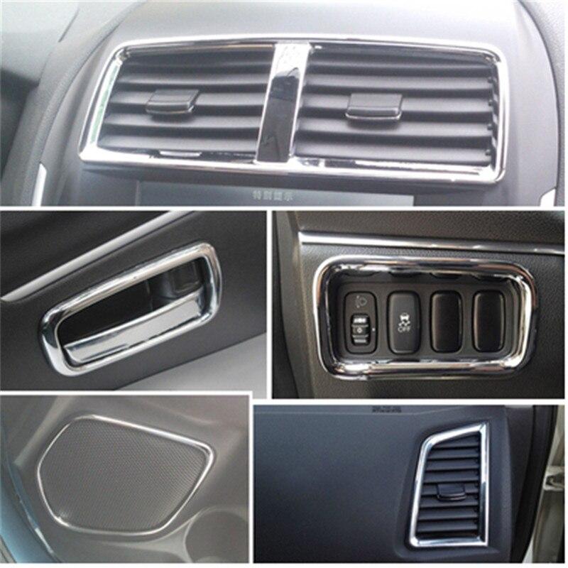 For 2011-2013 Mitsubishi ASX Auto Accessoires 17pcs/Lot ABS Chrome Trim Interior Light Bar Car Styling Hot Sale свитшот blend