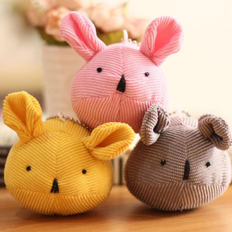 Creative Fabric Mouse Plush Pendant Cute Animal Small Doll Key Ring Hanging Ornaments Children Toy Gift