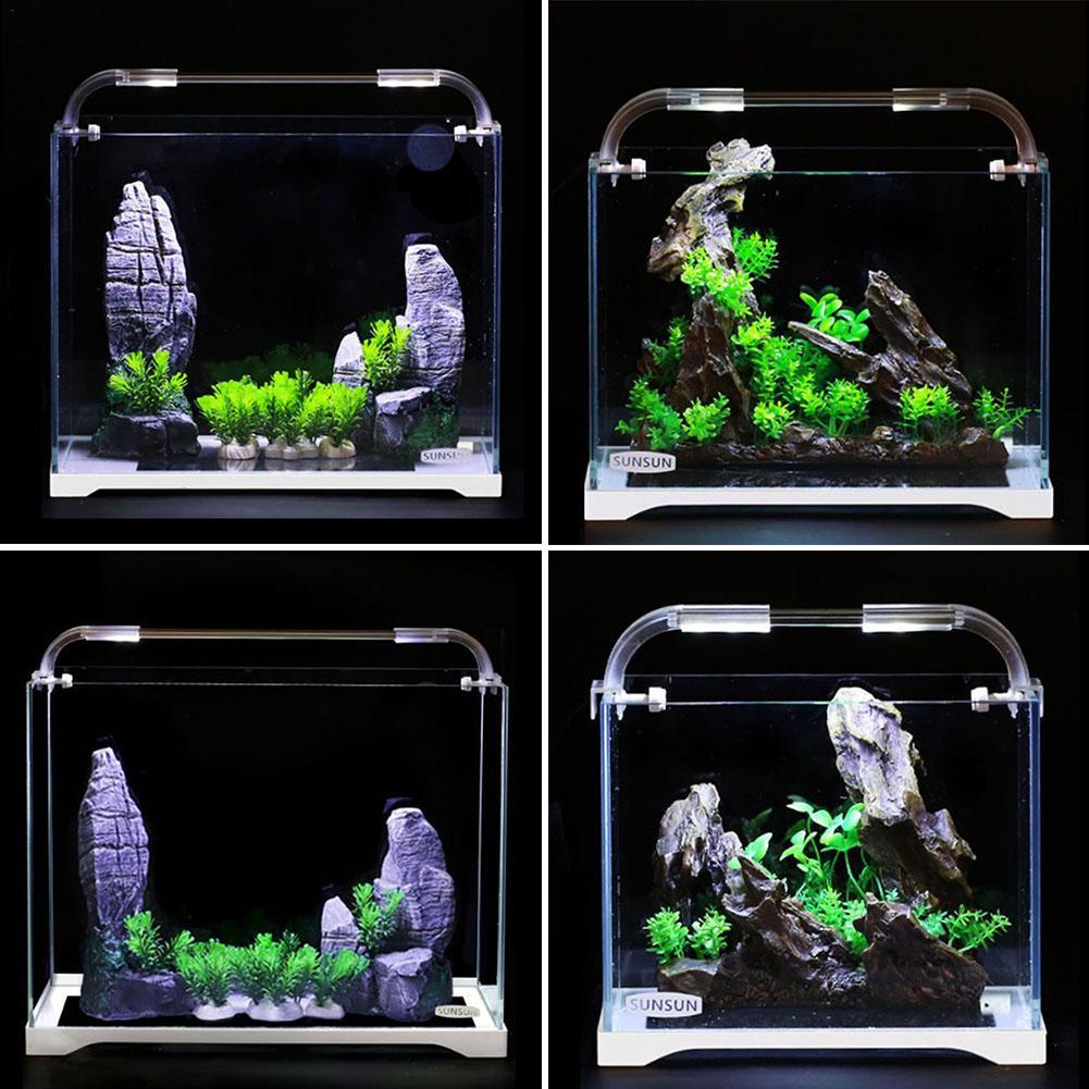 Aquarium Aquarium verre Ultra-blanc petit réservoir nu eau herbe cylindre salon eco-cylindre taille moyenne bureau Aquarium