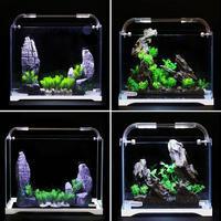 Aquarium Aquarium Ultra white Glass Small Bare Tank Water Grass Cylinder Living Room Eco cylinder Medium sized Desktop Fish Tank