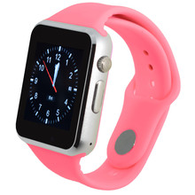 NEW Smart Watch for Android Phone T2 Camera 1.54 IPS Clock Sync Notifier Support Sim Card Bluetooth Connectivity Silicone strap