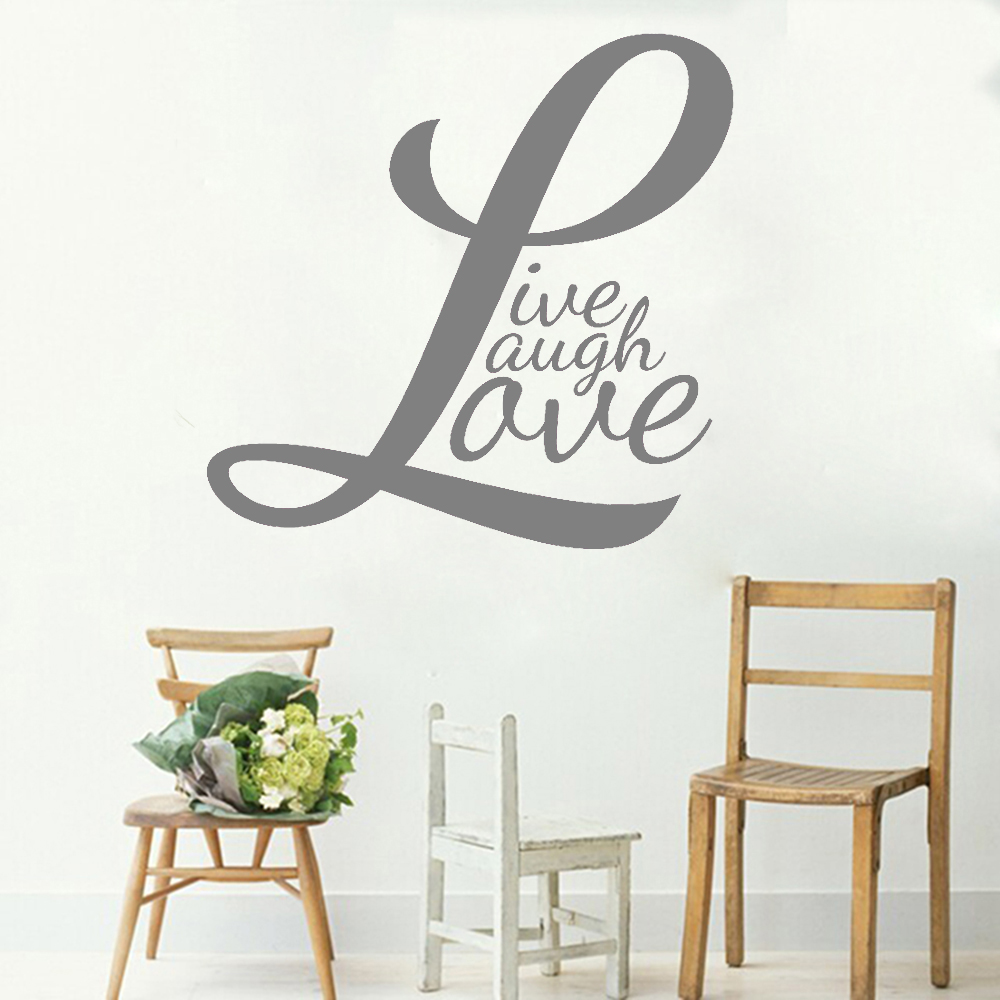Live Laugh Love Wall Sticker Quotes Couples Family Decor Words