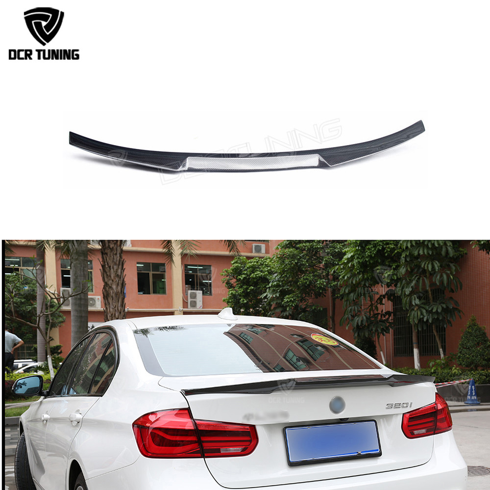 Carbon spoiler For BMW F30 F80 M3 Spoiler Carbon Fiber Material New M4 Style 2012 - UP 320i 328i 335i 326D F30 rear wings купить в Москве 2019