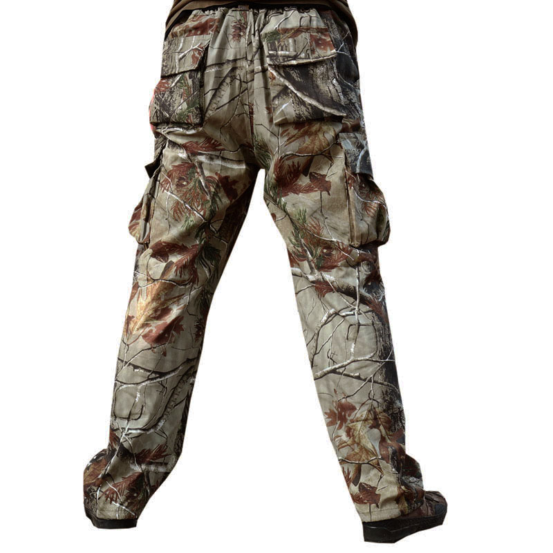 Quality Large Size Men's Camouflage Hunting Pants Tactical Combat Trousers Military Camo Hunting Clothing Camping Fishing Pants купить в Москве 2019