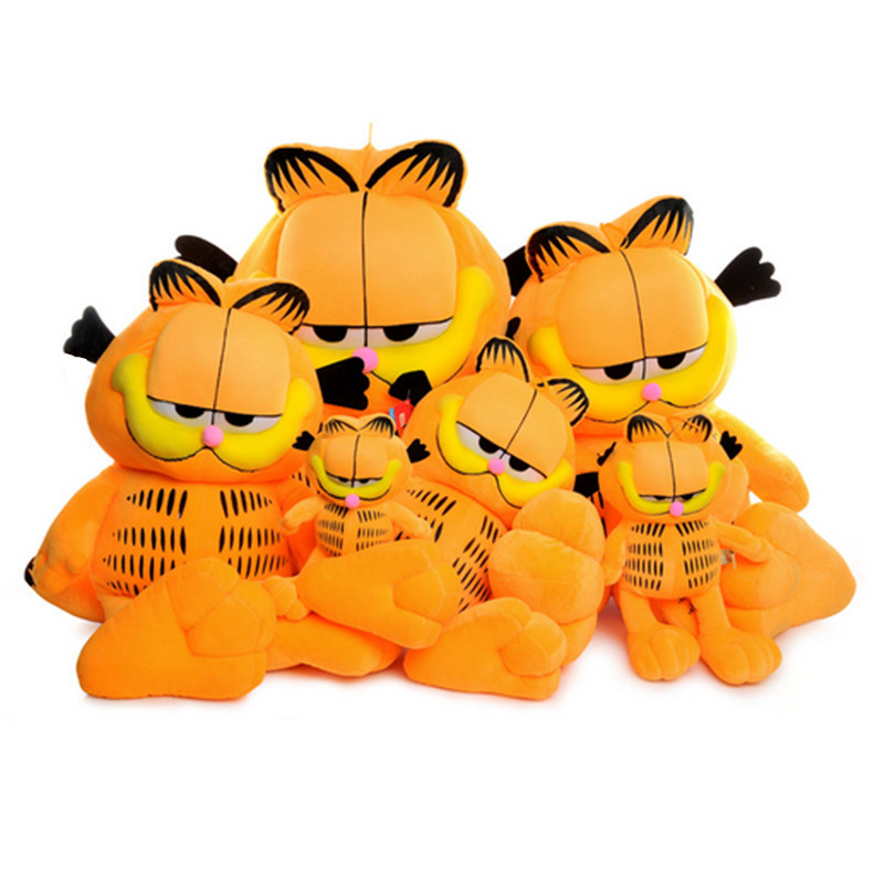 Fancytrader giant garfield cat plush toy Big cartoon anime cat doll 100cm best gift for children super cute big eyes garfield cat with hat plush toy soft doll anime toy baby kids sleep appease korea doll simulation cat animal