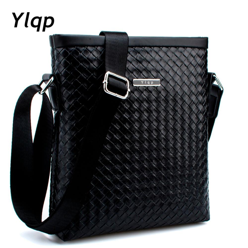 Fashion Knitting Men Bags Men Messenger bags Business Men s travel bag man  leather crossbody shoulder bag Handbags 2018 bolsa 05435cafdd