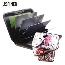 JSFINER для мужчин алюминий сплав посылка женщин портативный высокое ёмкость держатель для карт безопасности RFID Anti Theft кисточки