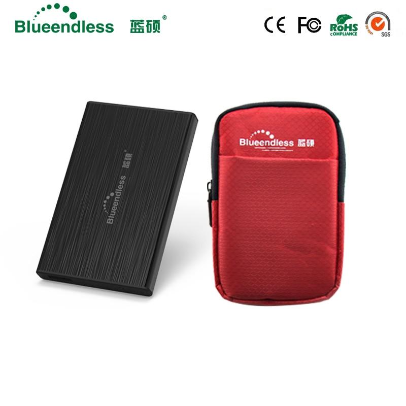 Blueendless 1 Set 2.5Sata to USB 3.0 HDD SSD Hard Disk Enclosure 7mm 9.5mm for External Hard Disk Drive Case Bag high quality