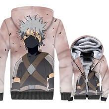 Naruto 3D Hoodies Kakashi Hatake Men Warm Fleece Jacket