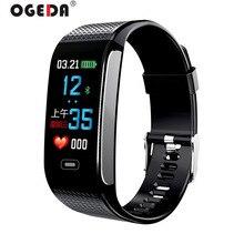 OGEDA hommes montre intelligente sport Bracelet fréquence cardiaque pression artérielle surveillance de la santé IP67 étanche Fitness Tracker CK18S heure nouveau