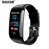 OGEDA Men Smart Watch Sports Bracelet Heart Rate Blood Pressure Health Monitoring IP67 Waterproof Fitness Tracker CK18S Hour New