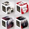 Japonés Anime de Tokio Ghoul Iluminado Reloj Cuadrado LED de Colores de Anime de Dibujos Animados Luz de La Noche Juguetes Electrónicos Bonito Regalo # F