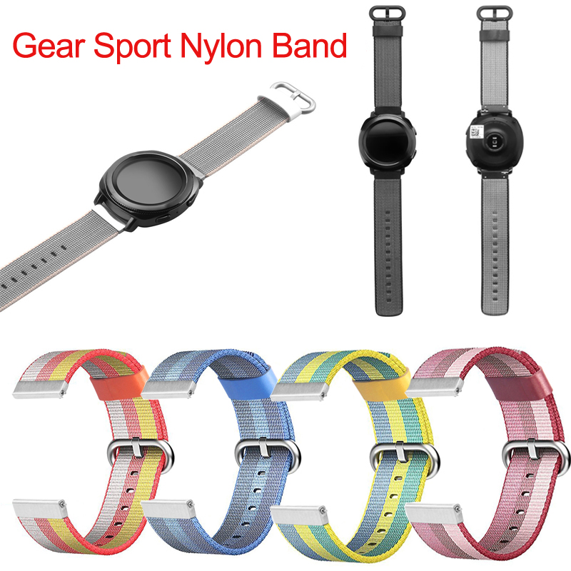 все цены на 20mm width Metal Buckle Strap For Samsung Gear S2 Classic Band Nylon Watchband For Samsung Gear Sport SM-R600 watch for People
