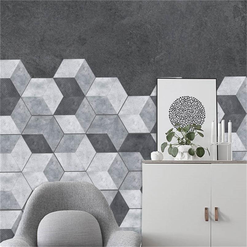 Us 5 28 41 Off 10pcs Oil Proof Wall Tiles Pvc Hexagonal Floor Stickers For Kitchen Bathroom Living Room Diy Wallpaper Wall Decor Dropship 912 In