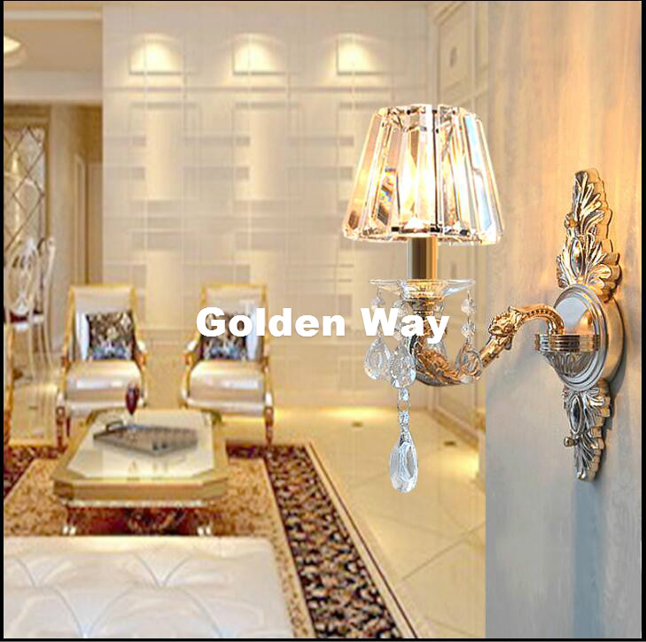 Modern Crystal Wall Lamp Decor Bronze Golden Wall Sconce Interior Wall Lights Decorative E14 Wall Sconces For Bedroom Lighting cka1006 christmas tree snowflake pattern bedroom wall decorative sticker red golden white