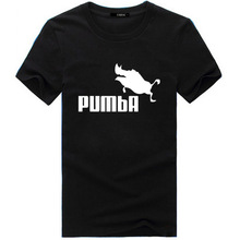Hot 2016 New Fashion Summer design funny tee cute t shirt homme men's Simba Pumba women 100% cotton cool man tshirt lovely top