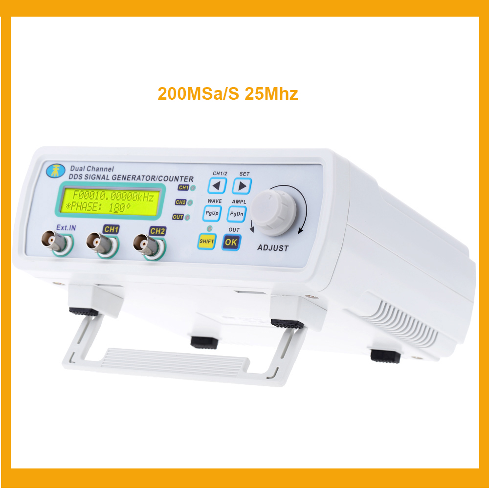 MHS-5200A Signal Generator DDS Function generator Digital 2 channel Arbitrary sine Waveform Frequency generator 200MSa/s 25MHz hantek dso4202c digital storage oscilloscope 2ch 200mhz 1 channel arbitrary function waveform generator factorydirectsales