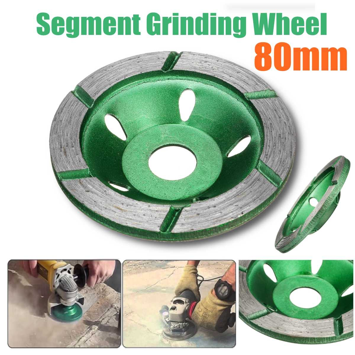 80mm/3.15inch Segment Grinding Wheel Diamond Grinding Disc Grinding Cup Concrete Granite Stone Ceramics Tools