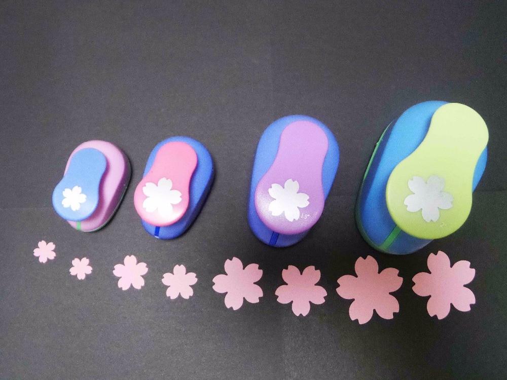 4 pièces Sakura forme artisanat poinçons perforadoras par scrapbooking l'école coupe-Papier eva trou perforateur livraison gratuite